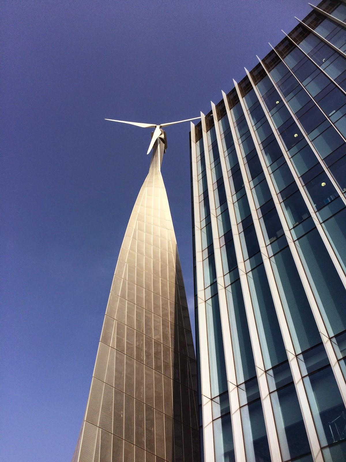 wind turbine at Sky TV