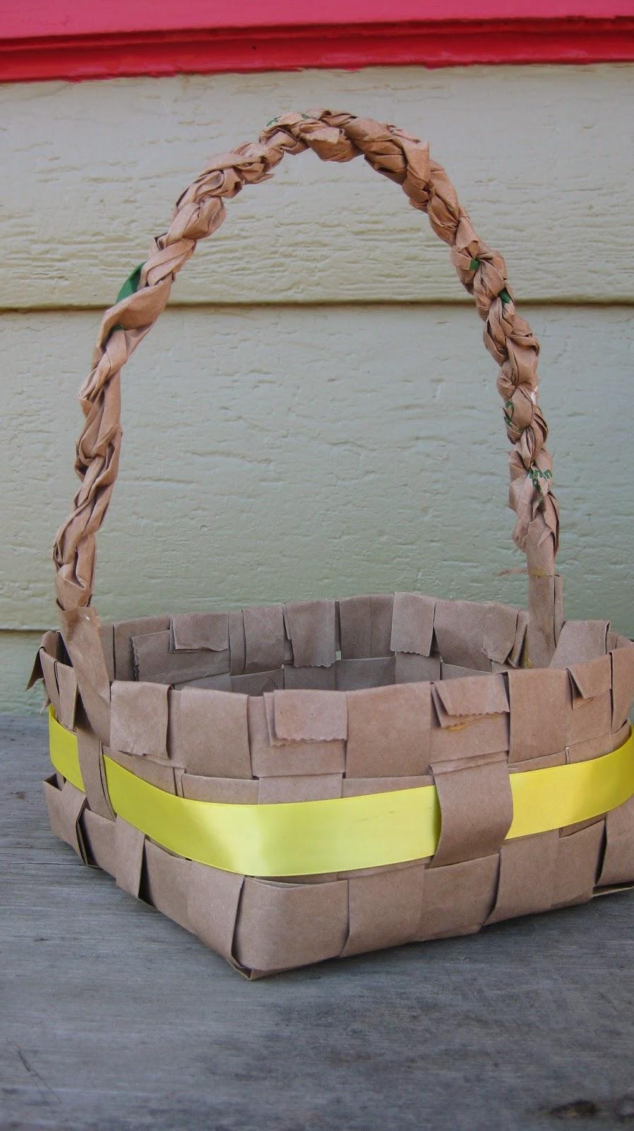 Handmade Basket Tutorial : Handmade life paper bag easter basket tutorial