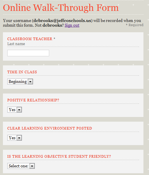 Teacher Walkthrough Form Pictures to Pin on Pinterest - ThePinsta