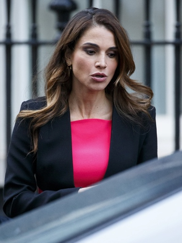 Queen Rania Visited 10 Downing Street, London