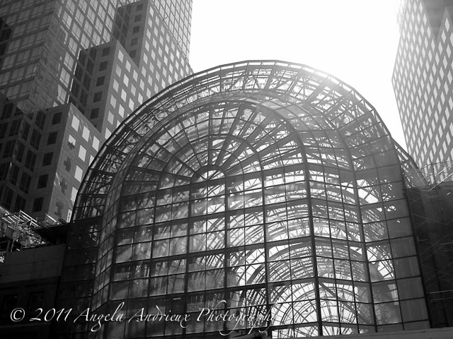 Winter Garden At The World Financial Center (Notice The Cranes Inside  Making Repairs)