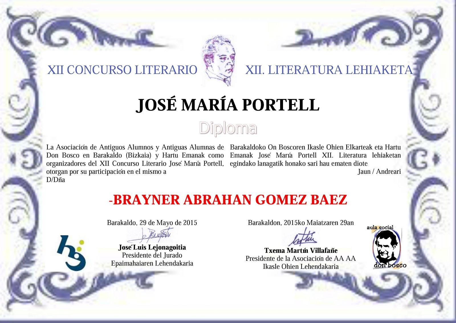 concurso de relatos Jose Maria Portell
