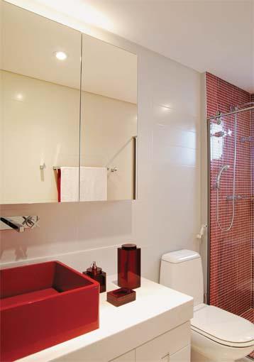 Sonhando com o apê Banheiros -> Banheiros Planejados Vermelho