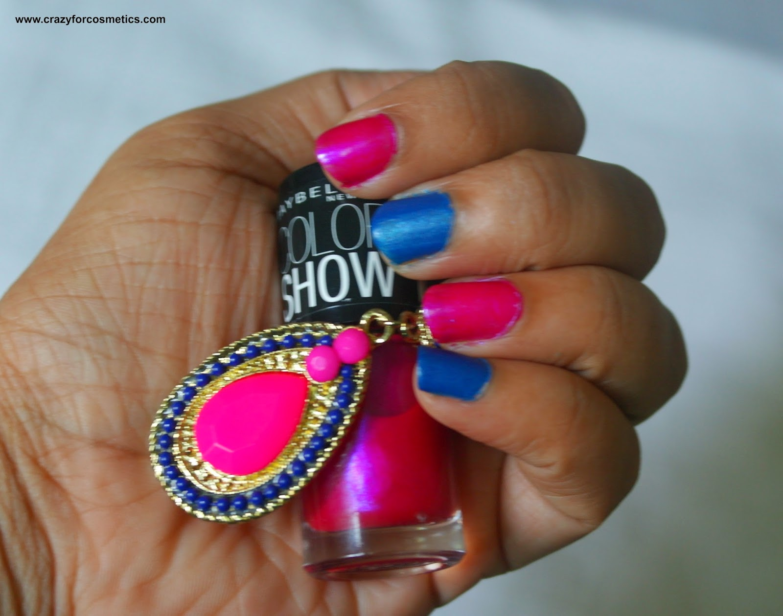 maybelline color show kiss me pink & denim dash price in India