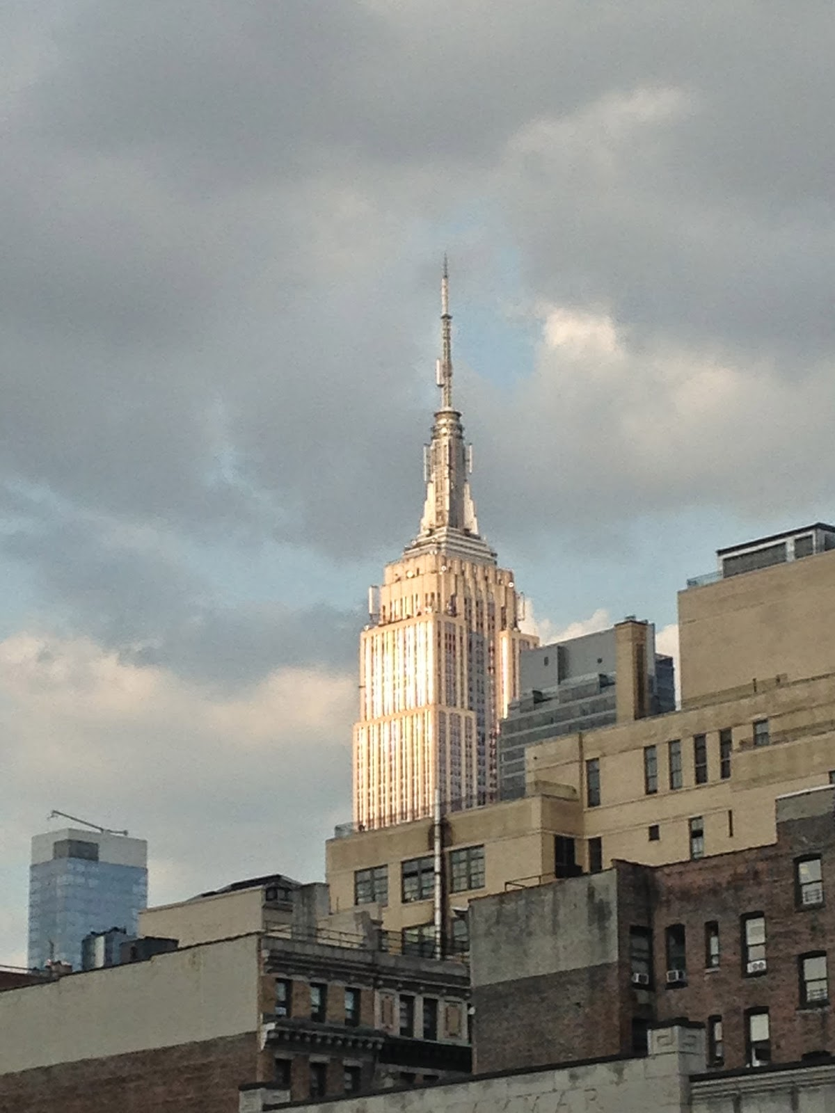 edge of the city empire state building looking