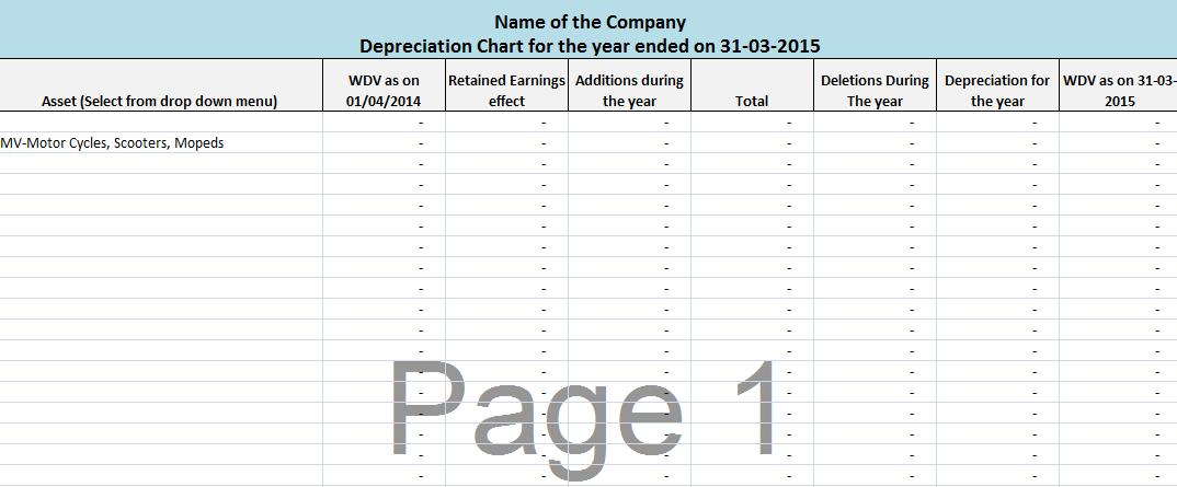 Depreciation automatic calculator as per companies act 2013 ccuart Choice Image