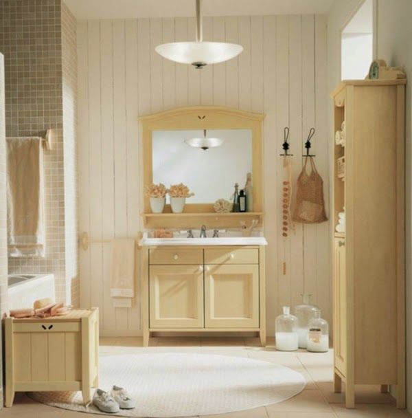 10 ba os decorados en color beige colores en casa - Muebles estilo country ...