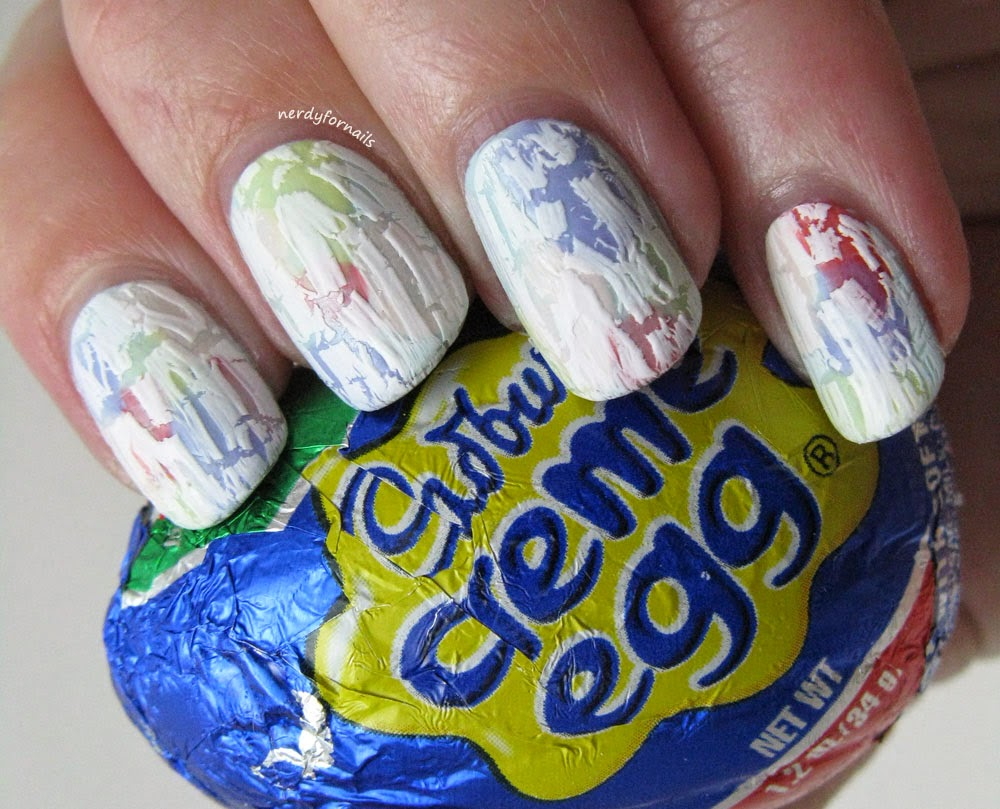 Crackle Easter Egg Nails