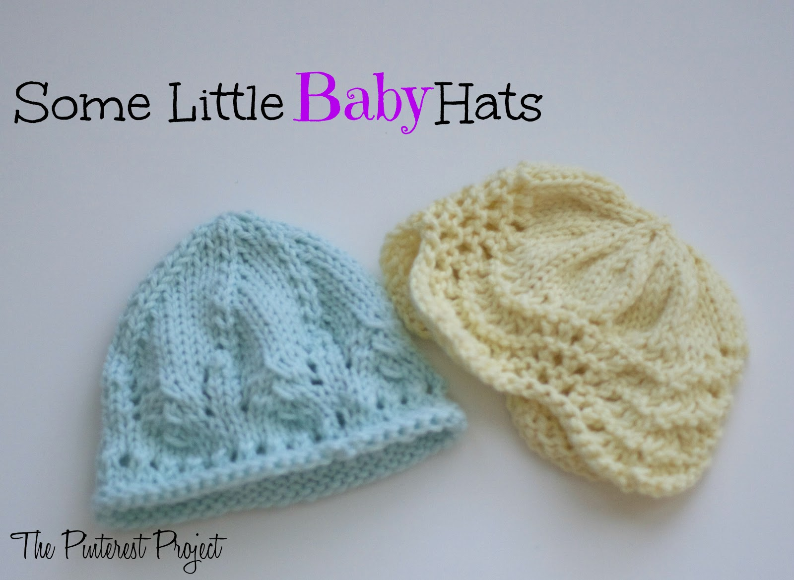 Knitting Patterns Baby Pinterest : Some Knit Baby Hats The Pinterest Project