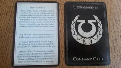 Esta carta explica el Ataque de Precisión de los Ultramarines en Traición en Calth