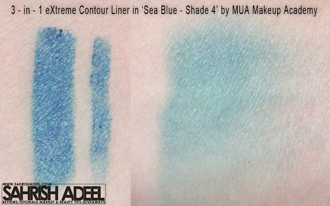 3 in 1 Contour Pen in 'Sea Blue' by MUA - Makeup Academy - Review & Swatch