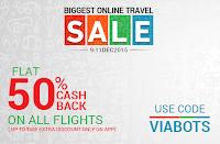 Via.com : Get 50% Cashback on Flights : BuyToEarn