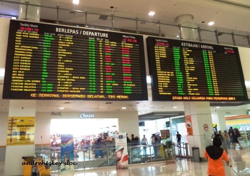 information board di Terminal Besepadu Selatan