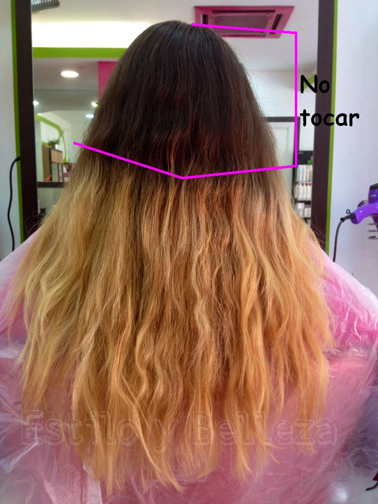 Cuando comencé a trabajar en el cabello le quedaban unos colores indefinidos que eran muy feos, después de varios intentos y soluciones,