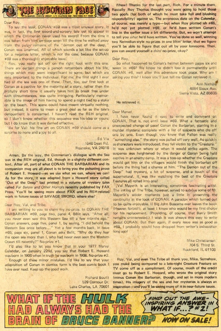 Conan the Barbarian (1970) Issue #73 #85 - English 21