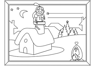 Page 2 - Elf and name plate page - for Christmas Activity Coloring Book by Robert Aaron Wiley for Microsoft