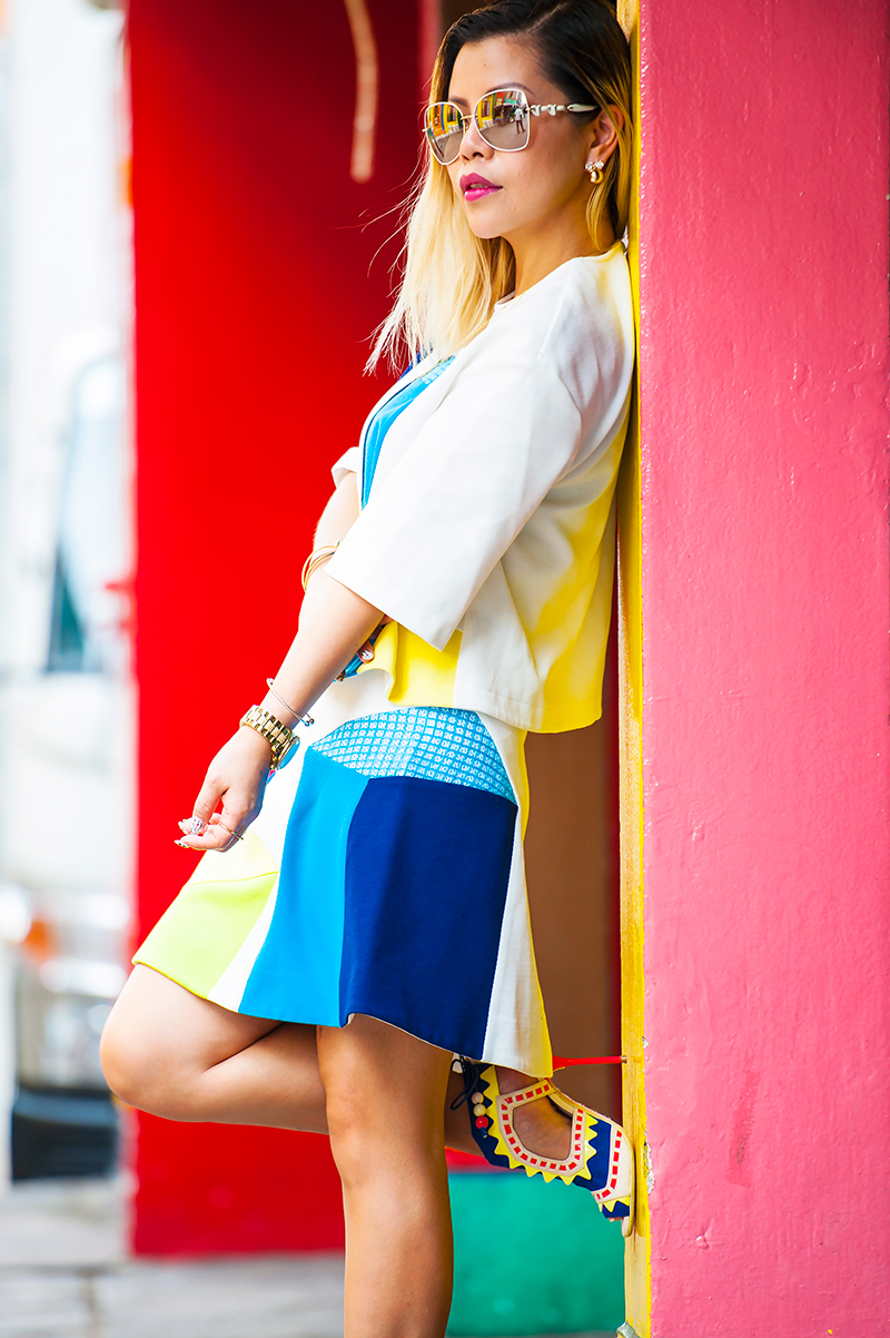 Crystal Phuong- Singapore Fashion Blog- How to dress up in colourful outfit