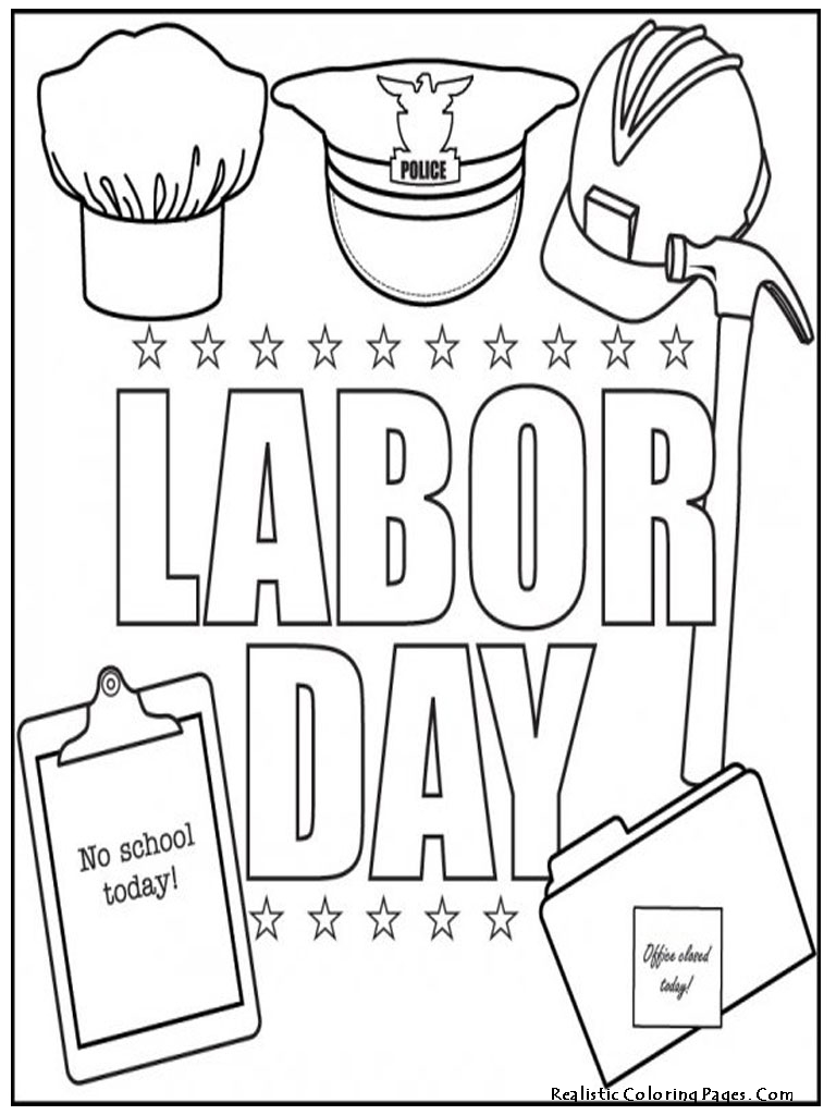 Labor Day Coloring Pages For Kids