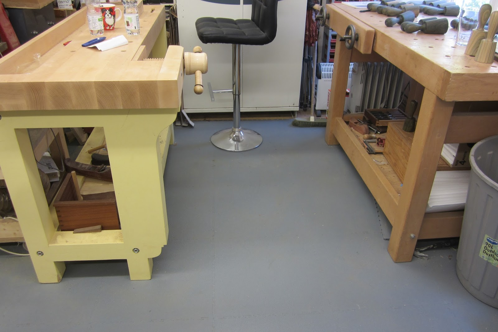 David Barron Furniture New Workshop Floor