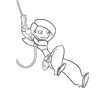 #4 Kim Possible Coloring Page