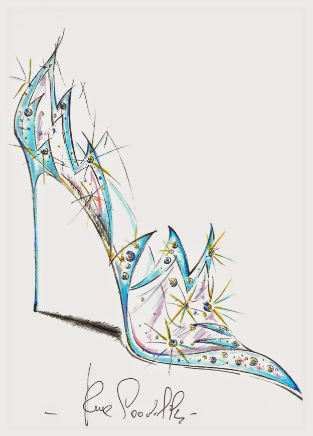 Rene Caovilla Cinderella Glass Slipper Sketch