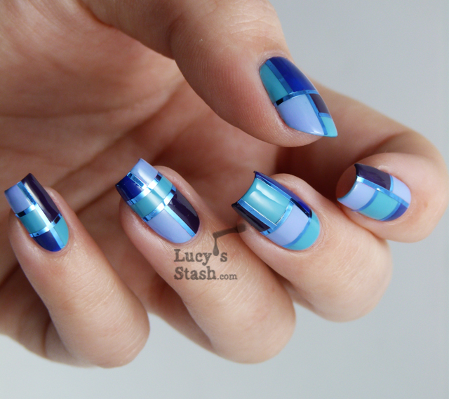 Lucy's Stash - Elegant Squares manicure
