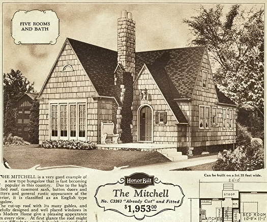 Technically it is not a Sears kit home  however  it was built using plans  from Sears. The Sears Mitchell Owned by Laura Ingalls Wilder