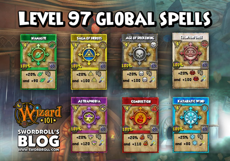 Wizard101 Khrysalis Part 2 Level 97 Spells - All Globals (Bubbles)