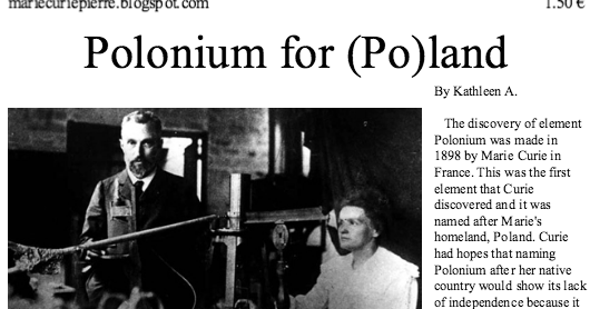 the discovery of polonium and radium by pierre and marie curie Madame curie, the discoverer of radium and of polonium, was a woman of  passion  in 1910, about four years after her husband, pierre, had died in a   langevin's wife discovered the love letters that marie had written to.