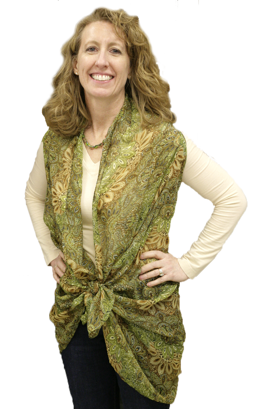 Convertible Sleeveless Scarf Vest Cover Up by Lavello