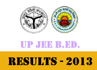 UP B.Ed Entrance Examination 2013 Results | UPJEE-BEd 2013 result at upresults.nic.in