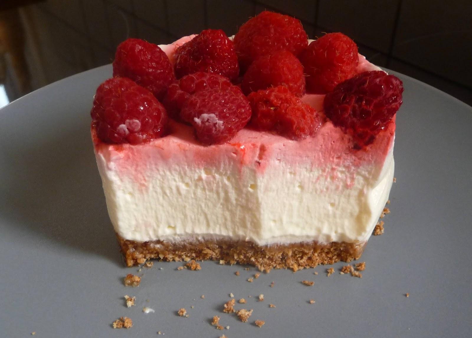 Cuill re aiguille et scie sauteuse cheesecakes sans cuisson aux framboises - Cheesecake framboise sans cuisson ...