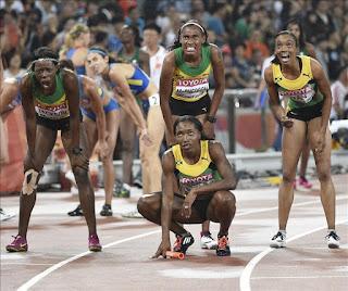 ATLETISMO - Jamaica arrebata a EEUU el oro en el 4x400 femenino en el último suspiro