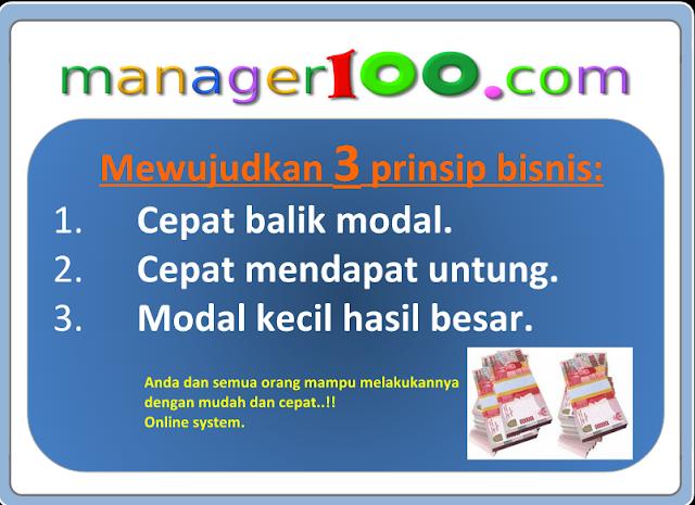 Prinsip Bisnis Manager100