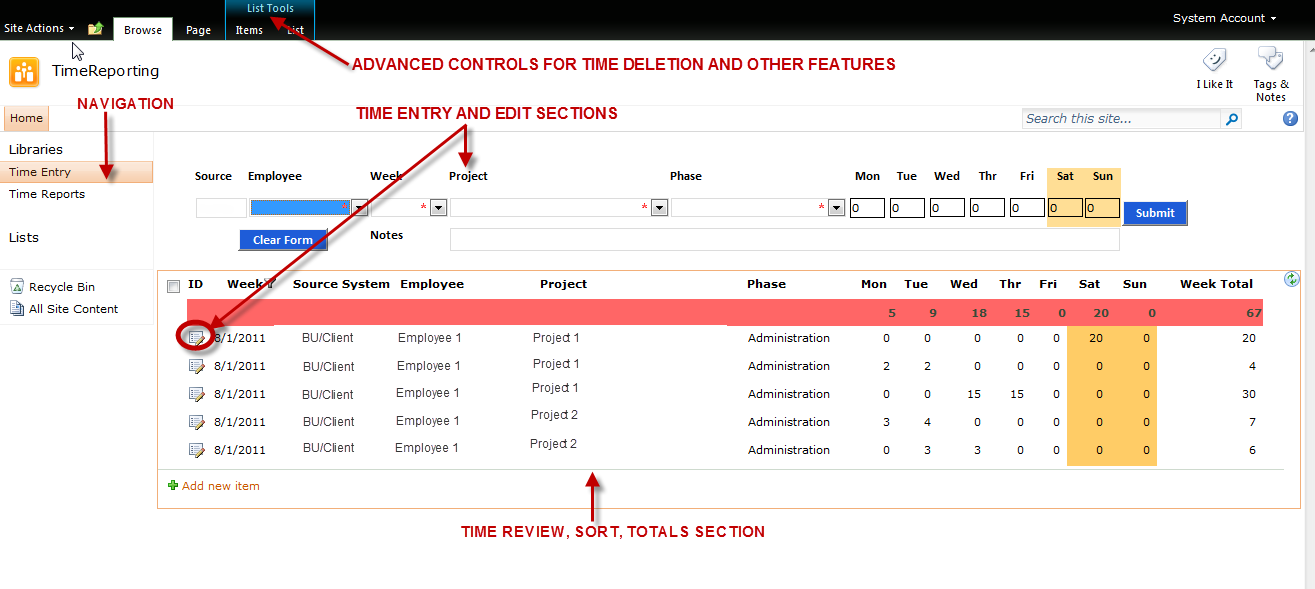 sharepoint4realfolks sharepoint timesheet solution part 1