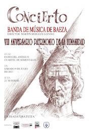 VIII CONCIERTO CONMEMORATIVO DE LA DECLARACIÓN DE BAEZA COMO CIUDAD PATRIMONIO DE LA HUMANIDAD