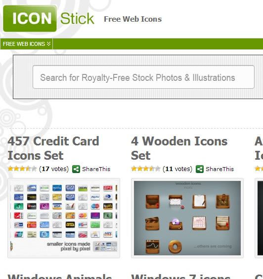 Icon Website : Icon Stick