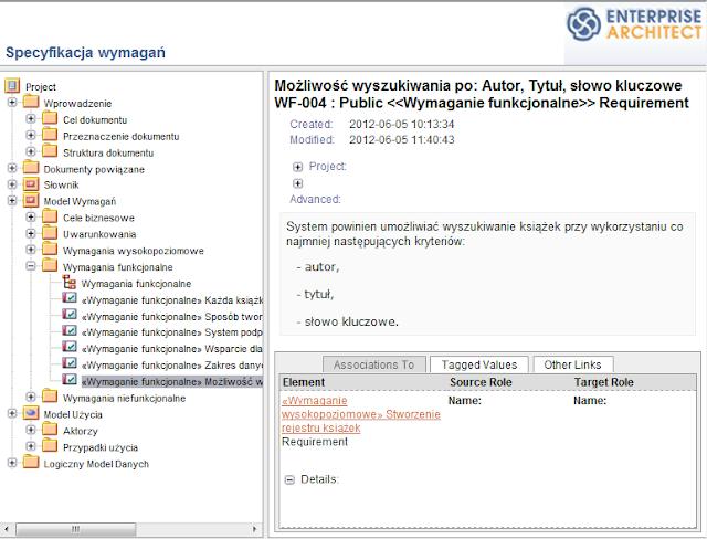 przykładowy Virtual Report w formie HTML