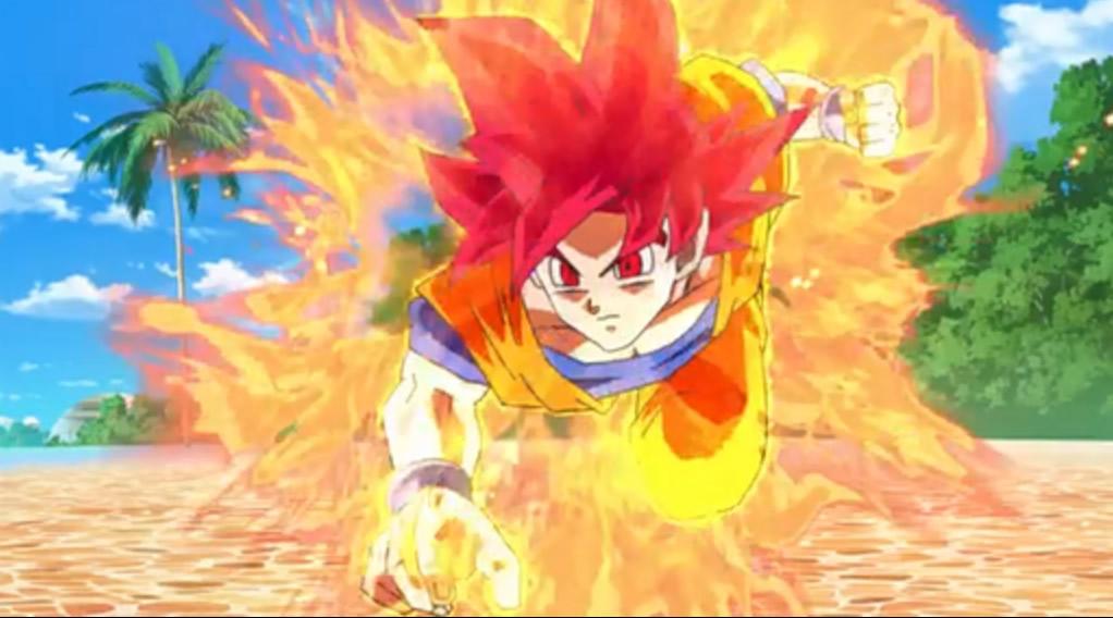 Goku, in Super Saiyan God