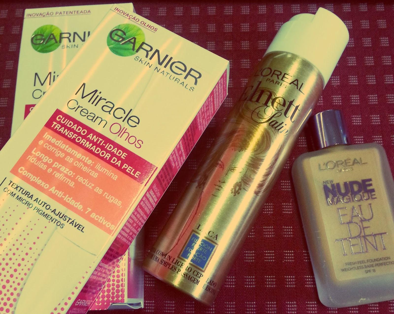 Garnier Miracle Cream | Elnett Satin | Loreal Eau de Teint