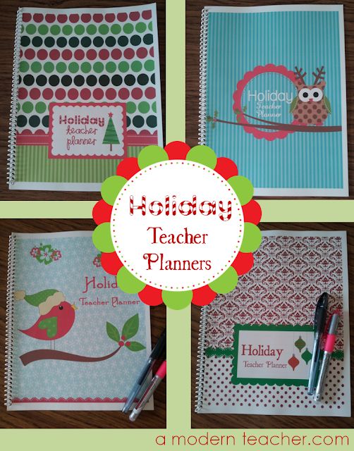Holiday Teacher Planners on A Modern Teacher