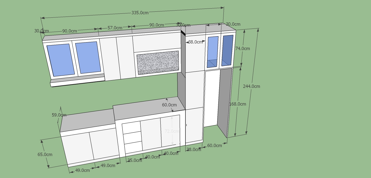 Kitchen set ada 3 model l i dan u harga kitchen set for Kitchen set yang bagus