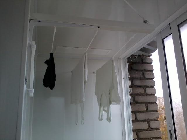 Бельевые верёвки на балконе своими руками фото