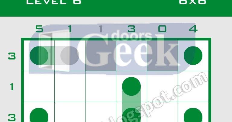 Logic dots 6x6 level 6 solution doors geek for Solution wordbrain cuisine