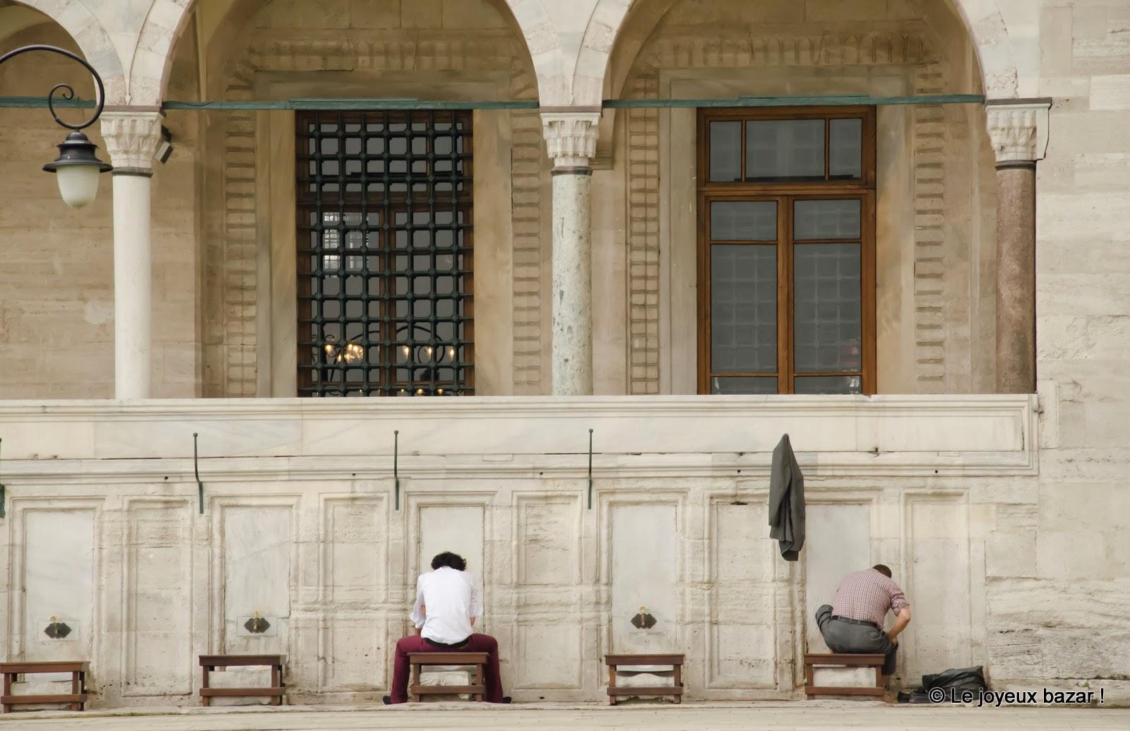 Istanbul - Mosquée de Soliman le Magnifique - ablutions