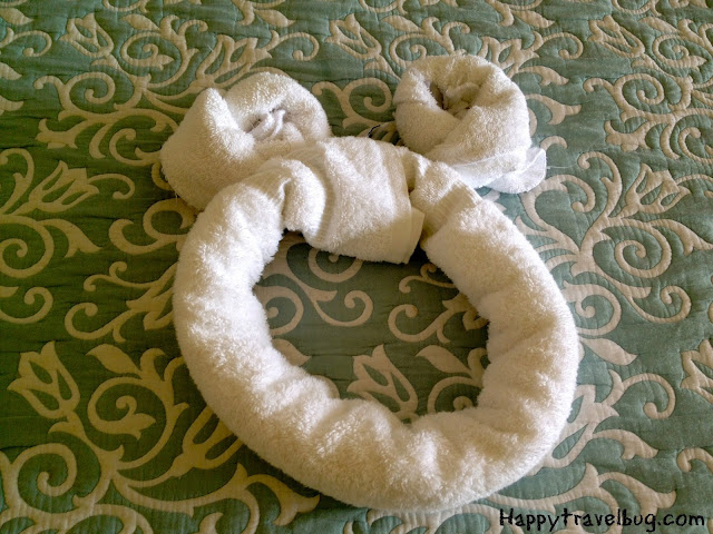 Mickey Mouse ears out of a towel