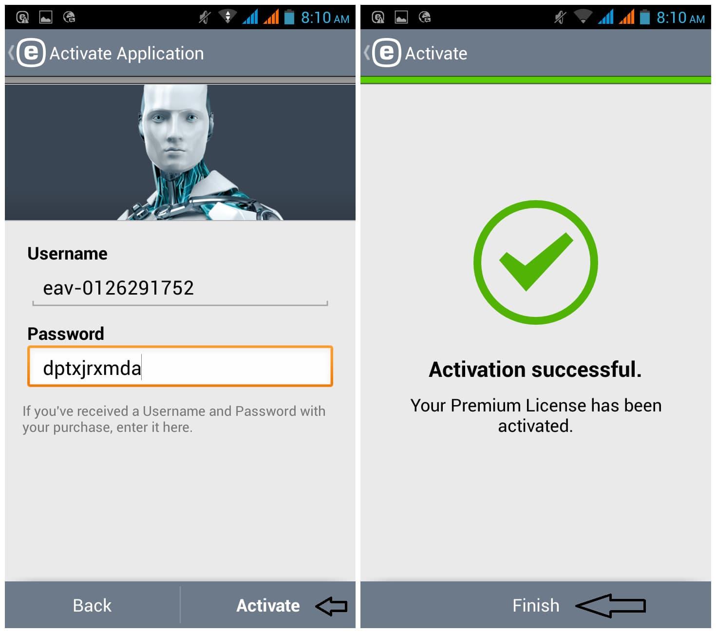 Скачать ключ на eset mobile security