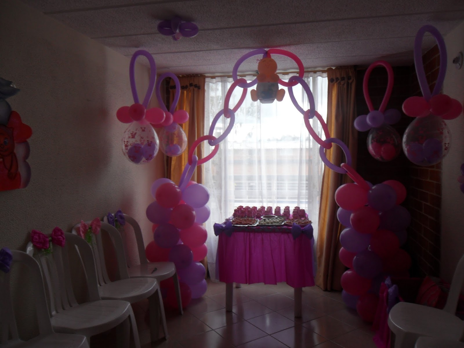 Decoraciones con globos para baby shower y fiestas infantiles for Decoracion baby shower nina