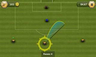 Screenshots of the Fluid Football Versus for Android tablet, phone.