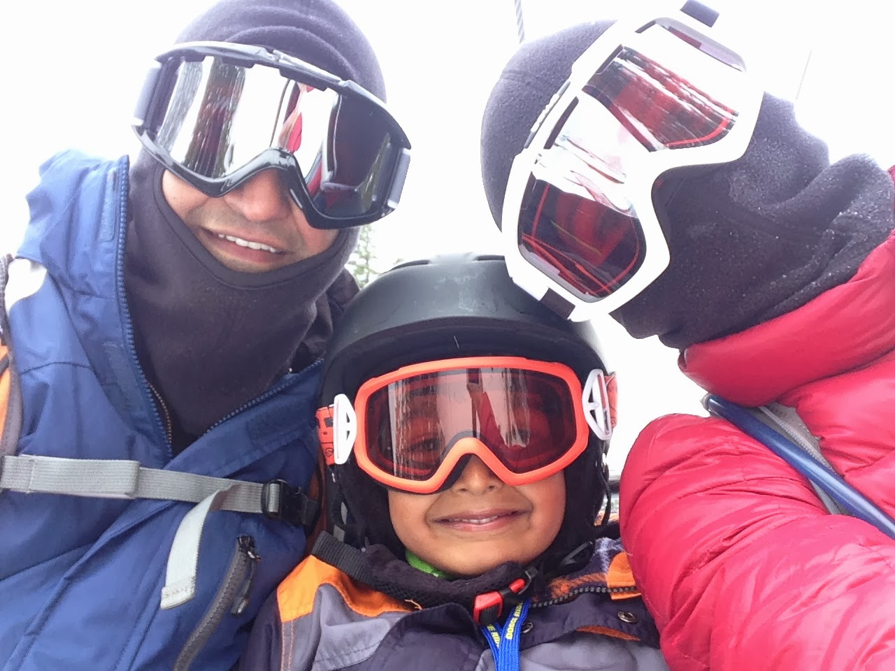 Our family skiing in March 2014